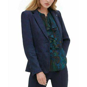 Tommy Hilfiger Dark Blue Faux Suede Blazer Jacket